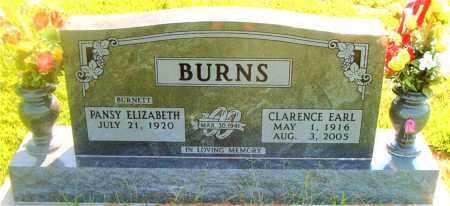BURNS, CLARENCE EARL - Boone County, Arkansas | CLARENCE EARL BURNS - Arkansas Gravestone Photos