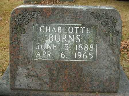 BURNS, CHARLOTTE - Boone County, Arkansas | CHARLOTTE BURNS - Arkansas Gravestone Photos