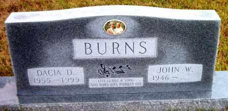 BURNS, DACIA D. - Boone County, Arkansas   DACIA D. BURNS - Arkansas Gravestone Photos