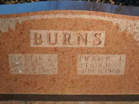 BURNS, FRANK J. - Boone County, Arkansas | FRANK J. BURNS - Arkansas Gravestone Photos