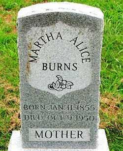 BURNS, MARTHA ALICE - Boone County, Arkansas | MARTHA ALICE BURNS - Arkansas Gravestone Photos