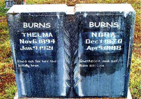 BURNS, NORA - Boone County, Arkansas | NORA BURNS - Arkansas Gravestone Photos
