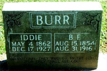 BURR, BENJAMIN FRANKLIN - Boone County, Arkansas   BENJAMIN FRANKLIN BURR - Arkansas Gravestone Photos