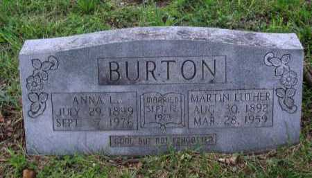 BURTON, ANNA L. - Boone County, Arkansas | ANNA L. BURTON - Arkansas Gravestone Photos