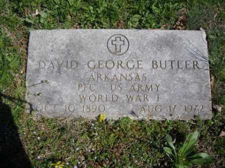 BUTLER (VETERAN WWI), DAVID GEORGE - Boone County, Arkansas | DAVID GEORGE BUTLER (VETERAN WWI) - Arkansas Gravestone Photos