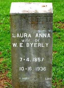BYERLY, LAURA ANNA - Boone County, Arkansas   LAURA ANNA BYERLY - Arkansas Gravestone Photos
