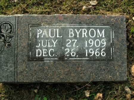 BYROM, PAUL - Boone County, Arkansas   PAUL BYROM - Arkansas Gravestone Photos