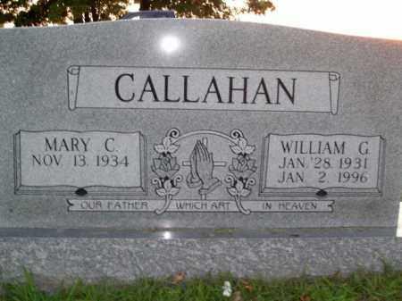 CALLAHAN, WILLIAM G. - Boone County, Arkansas | WILLIAM G. CALLAHAN - Arkansas Gravestone Photos