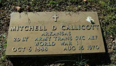 CALLICOTT  (VETERAN WWI), MITCHELL D - Boone County, Arkansas | MITCHELL D CALLICOTT  (VETERAN WWI) - Arkansas Gravestone Photos