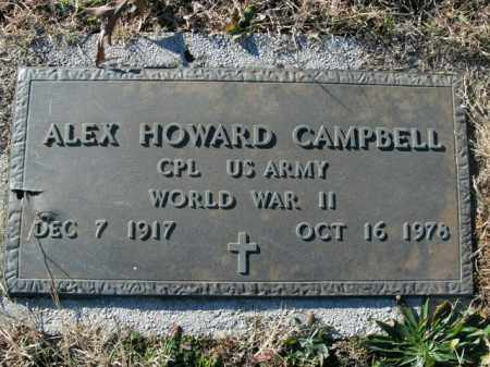 CAMPBELL  (VETERAN WWII), ALEX HOWARD - Boone County, Arkansas | ALEX HOWARD CAMPBELL  (VETERAN WWII) - Arkansas Gravestone Photos