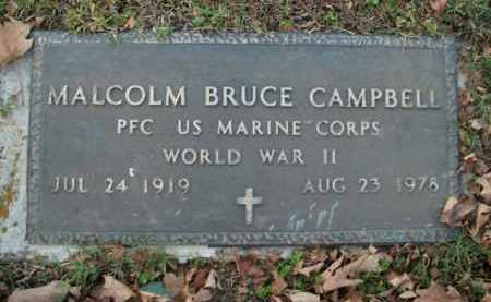 CAMPBELL  (VETERAN WWII), MALCOLM BRUCE - Boone County, Arkansas | MALCOLM BRUCE CAMPBELL  (VETERAN WWII) - Arkansas Gravestone Photos