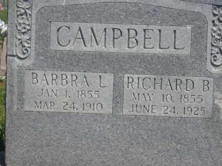 CAMPBELL, RICHARD B. - Boone County, Arkansas | RICHARD B. CAMPBELL - Arkansas Gravestone Photos