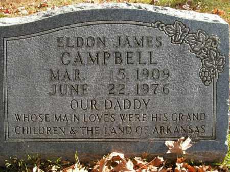 CAMPBELL, ELDON JAMES - Boone County, Arkansas   ELDON JAMES CAMPBELL - Arkansas Gravestone Photos