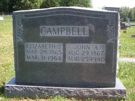 CAMPBELL, ELIZABETH J. - Boone County, Arkansas | ELIZABETH J. CAMPBELL - Arkansas Gravestone Photos