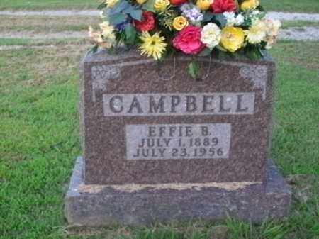 CAMPBELL, EFFIE B. - Boone County, Arkansas | EFFIE B. CAMPBELL - Arkansas Gravestone Photos