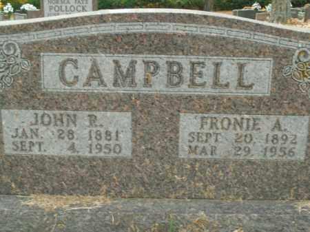 CAMPBELL, JOHN R. - Boone County, Arkansas | JOHN R. CAMPBELL - Arkansas Gravestone Photos