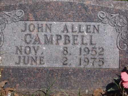 CAMPBELL, JOHN ALLEN - Boone County, Arkansas | JOHN ALLEN CAMPBELL - Arkansas Gravestone Photos