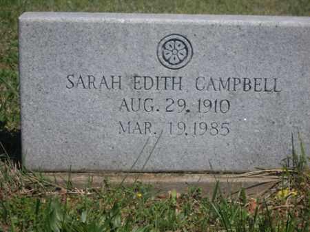 CAMPBELL, SARAH EDITH - Boone County, Arkansas   SARAH EDITH CAMPBELL - Arkansas Gravestone Photos