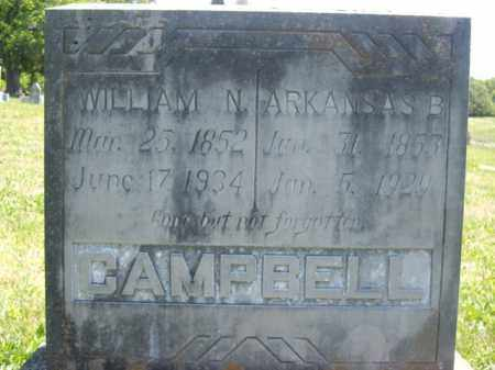 CAMPBELL, WILLIAM N. - Boone County, Arkansas | WILLIAM N. CAMPBELL - Arkansas Gravestone Photos