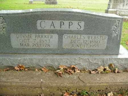 CAPPS, CHARLES WEBSTER - Boone County, Arkansas | CHARLES WEBSTER CAPPS - Arkansas Gravestone Photos