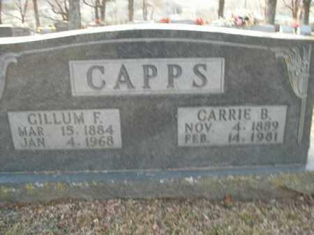 CAPPS, GILLUM FLOYD - Boone County, Arkansas | GILLUM FLOYD CAPPS - Arkansas Gravestone Photos