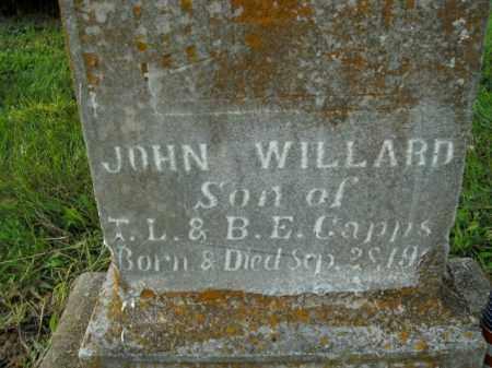 CAPPS, JOHN WILLARD - Boone County, Arkansas   JOHN WILLARD CAPPS - Arkansas Gravestone Photos