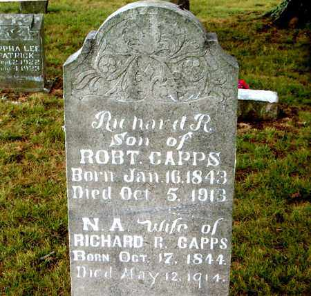 CAPPS  (VETERAN UNION), RICHARD RUBEN - Boone County, Arkansas | RICHARD RUBEN CAPPS  (VETERAN UNION) - Arkansas Gravestone Photos