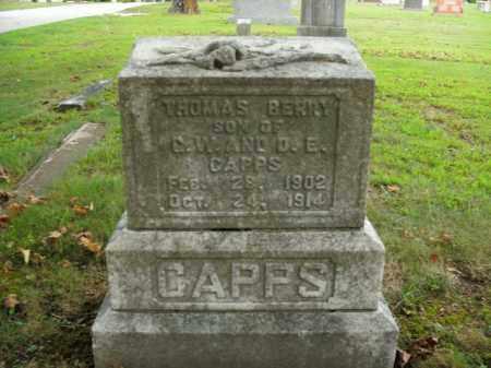CAPPS, THOMAS BERRY - Boone County, Arkansas   THOMAS BERRY CAPPS - Arkansas Gravestone Photos