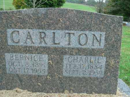 CARLTON, CHARLIE - Boone County, Arkansas | CHARLIE CARLTON - Arkansas Gravestone Photos