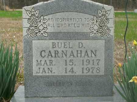 CARNAHAN, BUEL D. - Boone County, Arkansas | BUEL D. CARNAHAN - Arkansas Gravestone Photos