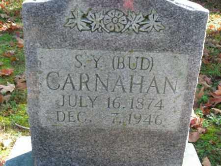 CARNAHAN, S.Y. (BUD) - Boone County, Arkansas   S.Y. (BUD) CARNAHAN - Arkansas Gravestone Photos