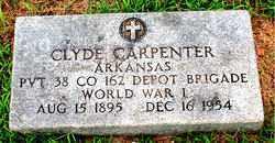 CARPENTER  (VETERAN WWI), CLYDE - Boone County, Arkansas | CLYDE CARPENTER  (VETERAN WWI) - Arkansas Gravestone Photos