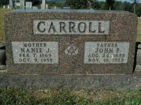CARROLL, NANIE J. - Boone County, Arkansas   NANIE J. CARROLL - Arkansas Gravestone Photos