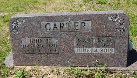 CARTER, JOHN D. - Boone County, Arkansas | JOHN D. CARTER - Arkansas Gravestone Photos