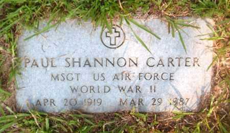 CARTER  (VETERAN WWII), PAUL SHANNON - Boone County, Arkansas | PAUL SHANNON CARTER  (VETERAN WWII) - Arkansas Gravestone Photos