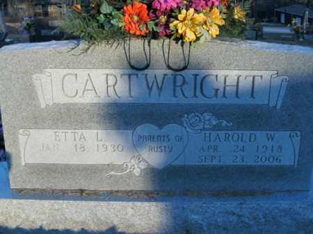 CARTWRIGHT, HAROLD WOODS - Boone County, Arkansas | HAROLD WOODS CARTWRIGHT - Arkansas Gravestone Photos