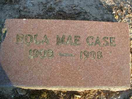 CASE, NOLA MAE - Boone County, Arkansas | NOLA MAE CASE - Arkansas Gravestone Photos