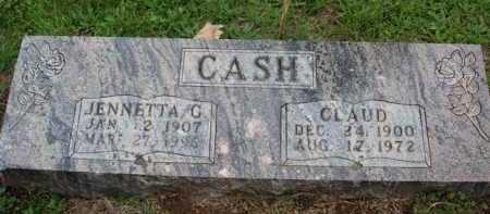 CASH, JENNETTA G. - Boone County, Arkansas | JENNETTA G. CASH - Arkansas Gravestone Photos