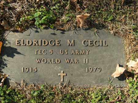 CECIL  (VETERAN WWII), ELDRIDGE M - Boone County, Arkansas | ELDRIDGE M CECIL  (VETERAN WWII) - Arkansas Gravestone Photos