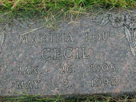 CECIL, MARTHA LOU - Boone County, Arkansas   MARTHA LOU CECIL - Arkansas Gravestone Photos