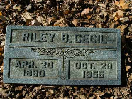 CECIL, RILEY B. - Boone County, Arkansas | RILEY B. CECIL - Arkansas Gravestone Photos