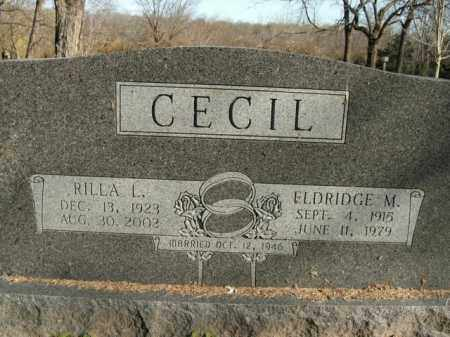 CECIL, ELDRIDGE M. - Boone County, Arkansas | ELDRIDGE M. CECIL - Arkansas Gravestone Photos