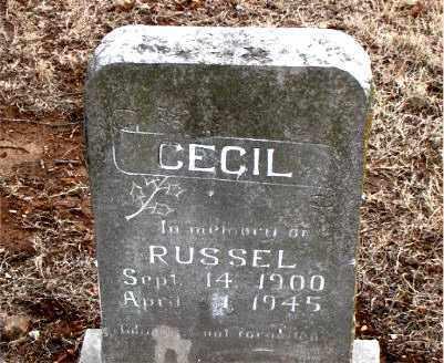CECIL, RUSSEL - Boone County, Arkansas | RUSSEL CECIL - Arkansas Gravestone Photos