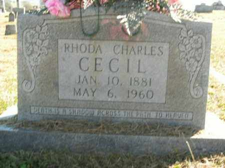 CHARLES CECIL, RHODA - Boone County, Arkansas | RHODA CHARLES CECIL - Arkansas Gravestone Photos