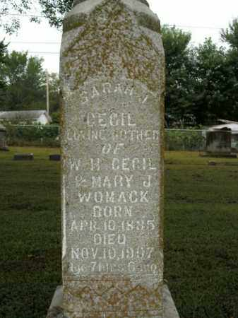 CECIL, SARAH J. - Boone County, Arkansas | SARAH J. CECIL - Arkansas Gravestone Photos