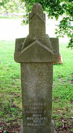 CENTER, ELIZABETH G. - Boone County, Arkansas | ELIZABETH G. CENTER - Arkansas Gravestone Photos