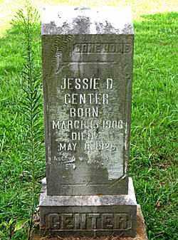 CENTER, JESSIE D. - Boone County, Arkansas | JESSIE D. CENTER - Arkansas Gravestone Photos