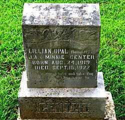 CENTER, LILLIAN OPAL - Boone County, Arkansas | LILLIAN OPAL CENTER - Arkansas Gravestone Photos