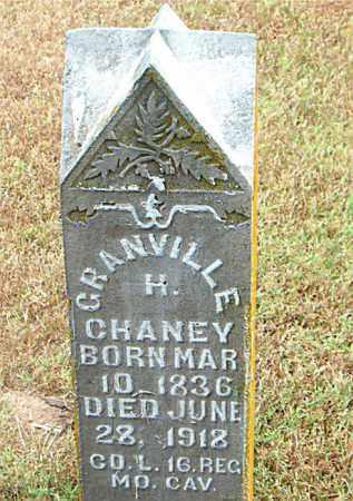 CHANEY  (VETERAN UNION), GRANVILLE  H - Boone County, Arkansas | GRANVILLE  H CHANEY  (VETERAN UNION) - Arkansas Gravestone Photos