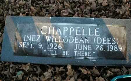 CHAPPELLE, INEZ WILLODEAN - Boone County, Arkansas | INEZ WILLODEAN CHAPPELLE - Arkansas Gravestone Photos
